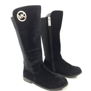Michael Kors Girls Velvet Velour Tall  Boots Sz 11